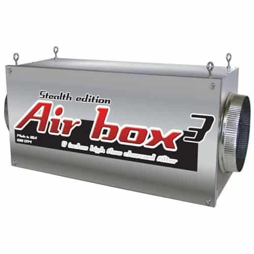 """Air Box 3 Stealth Edition 1200 CFM 8"""" Flanges Charcoal Inline Filter"""